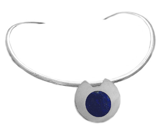 Sterling Silver and Lapis Lazuli Packman Necklace