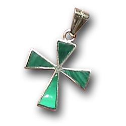 18K Gold Triangular Cross