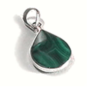Extra Large Sterling Silver Charm with Inlayed Stone