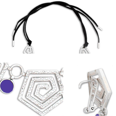 Sterling Silver and Lapis Lazuli Spiral Cord Set