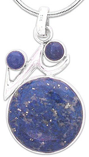 Lapis Lazuli Trio Medallion Necklace