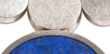 Sterling Silver and Lapis Lazuli Abstract Discs Necklace
