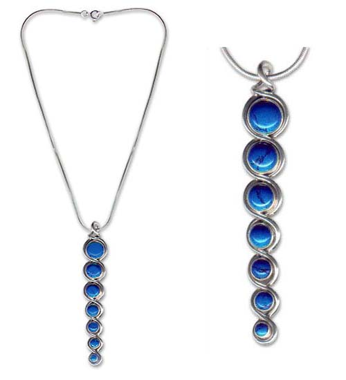 Sterling Silver and Lapis Lazuli Infinity Necklace
