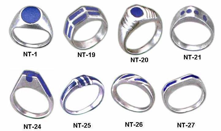 Medium Sterling Silver Tower Rings
