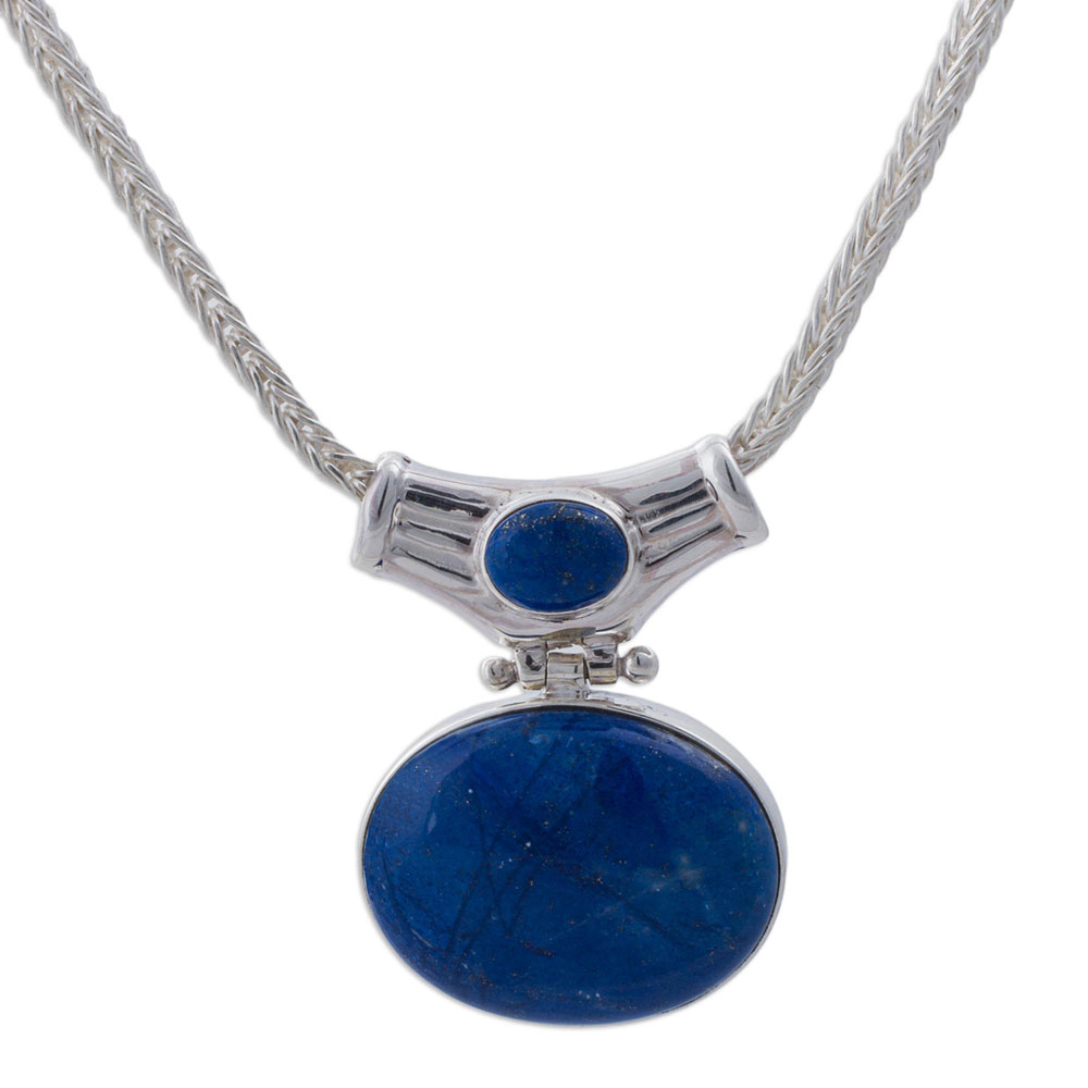 Sterling Silver and Lapis Lazuli Wisdom Charm