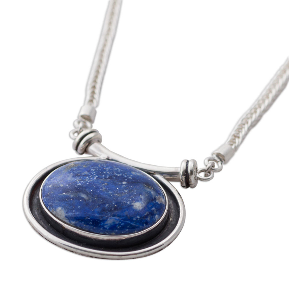 Sterling Silver and Lapis Lazuli Mystical Medallion