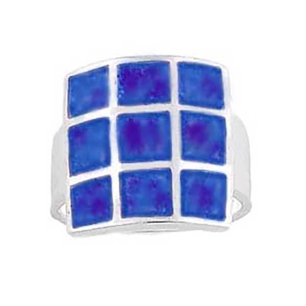 Lapis Lazuli and Sterling Silver Modern Ring
