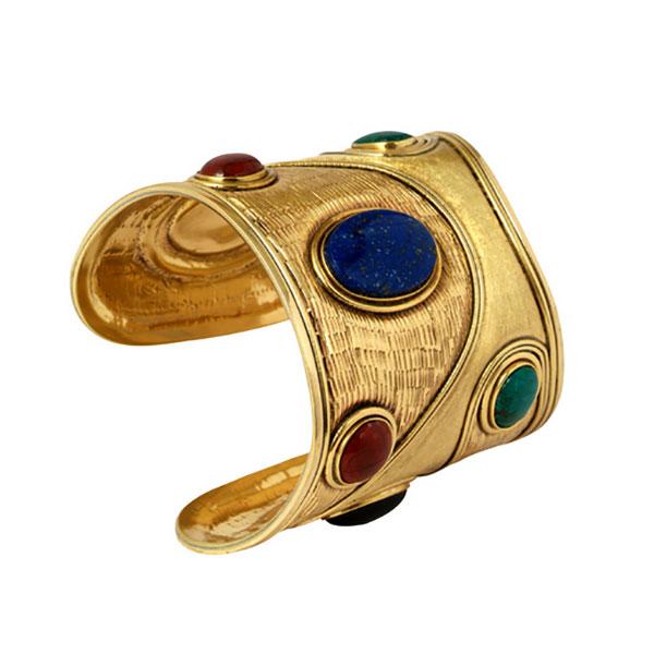Gold Vermeil Nefertari Cuff Bracelet
