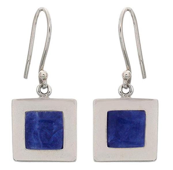 Sterling Silver Geometric Hanging Earrings
