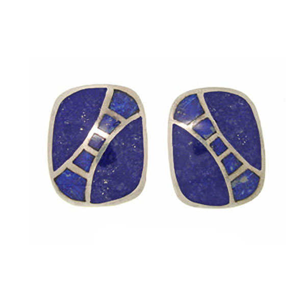 Sterling Silver and Lapis Lazuli Stariway to Heaven Earrings