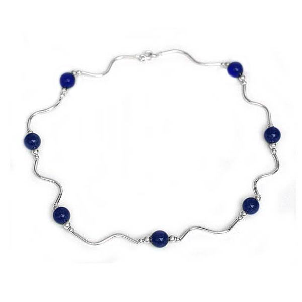 Lapis Lazuli Floating Beads Necklace