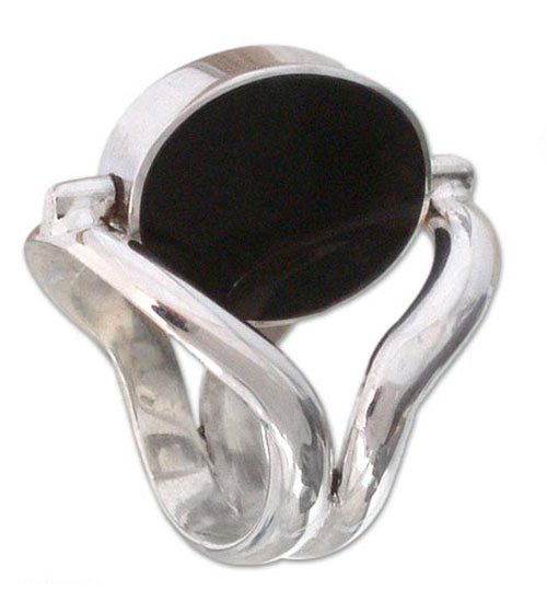 Sterling Silver Reversible Gemstone Ring