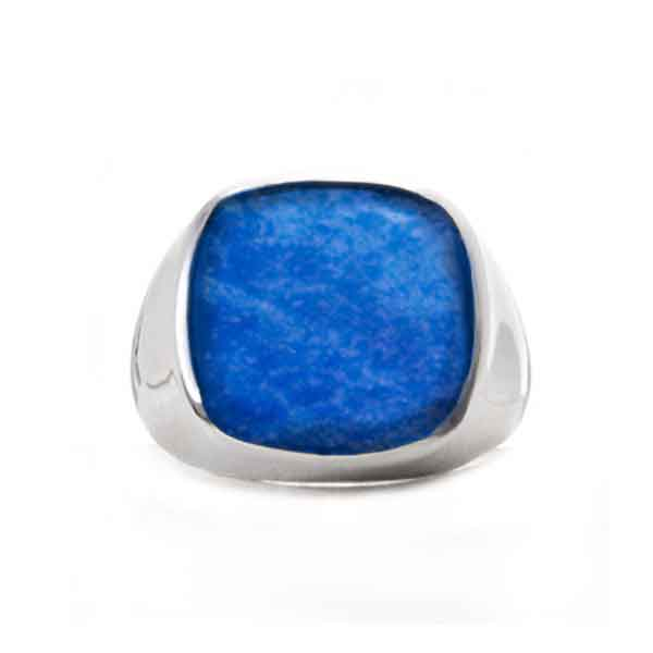 Sterling Silver and Lapis Lazuli Square Signet Ring