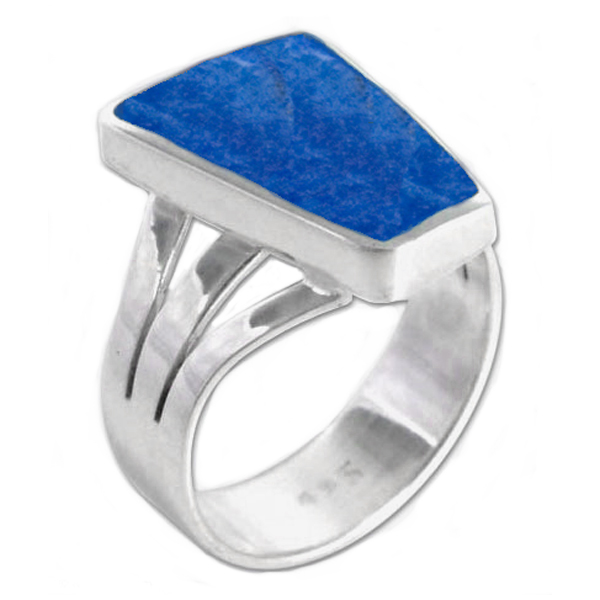 Sterling Silver and Lapis Lazuli Cocktail Ring
