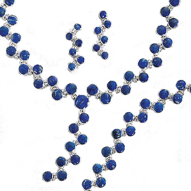 Lapis Lazuli and Sterling Silver Ivy Flow Set