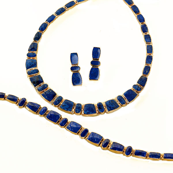 Lapis Lazuli and Gold Vermeil Link Set