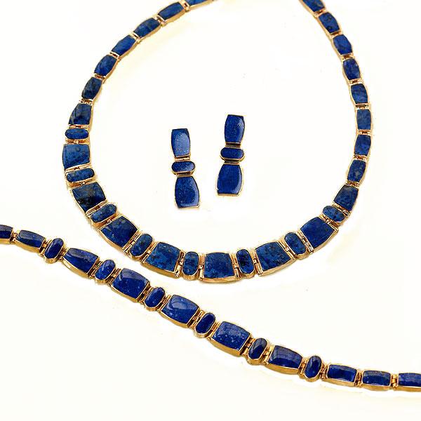 Lapis Lazuli and Gold Vermeil Link Set