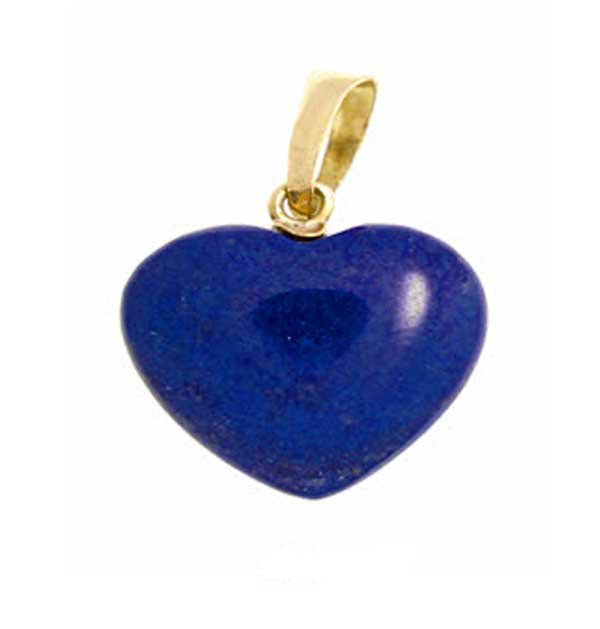 18K Gold Heart Single Stone Pendant
