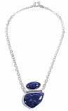 Sterling Silver and Lapis Lazuli Boulder Necklace