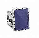 Sterling Silver and Lapis Lazuli Egyptian Chevalier Ring