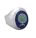 Sterling Silver Bind Rune Signet Rings