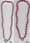 6 mm and 8 mm Rhodhocrosite Bead Necklace