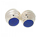 Mystic Tower Post or Clip Earrings, Sterling Silver and Lapis Lazuli