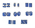 Lapis Lazuli Geometric Cufflinks