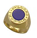 18K Gold Bvlgari Lapis Lazuli Ring