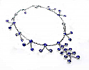 Sterling Silver and Lapis Lazuli Garden Cascade Necklace