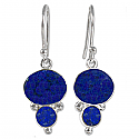 Lapis Lazuli and Sterling Silver Mod Earrings