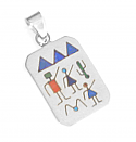 Sterling Silver Rectangular Diaguitas Charm