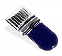 Lapis Lazuli and Sterling Silver Textured Money Clip