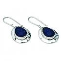 Lapis Lazuli Cabochon Drop Hanging Earring