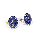 18K Gold Round Division Post Earrings