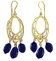 Lapis Lazuli and Vermeil Chandelier Earrings