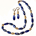 Lapis Lazuli and Vermeil Beaded Roman Set