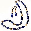 Lapis Lazuli and Vermeil Beaded Roman Set