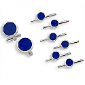 Sterling Silver Cufflinks & Six Studs Set