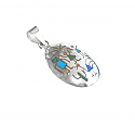 Sterling Silver Oval Diaguitas Charm