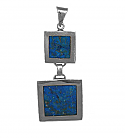 Two Frame Sterling Silver and Lapis Lazuli Pendant