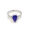 Medium Tear Sterling Silver Ring