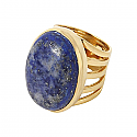Vermeil and Lapis Lazuli Fantasy Ring