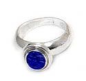 Medium Round Sterling Silver Ring