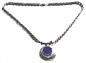 Relieved Tube Charm with Rope Chain
