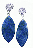 Lapis Lazuli Amazonian Hanging Earrings