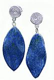 Lapis Lazuli Amazonian Hanging Earrings