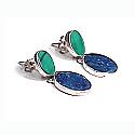 Sterling Silver Oval Hinge Hanging Earrings