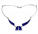 Egyptian Inspired Lapis Lazuli and Sterling Silver Necklace
