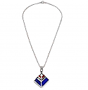 Lapis Lazuli and Jasper Sterling Silver Necklace